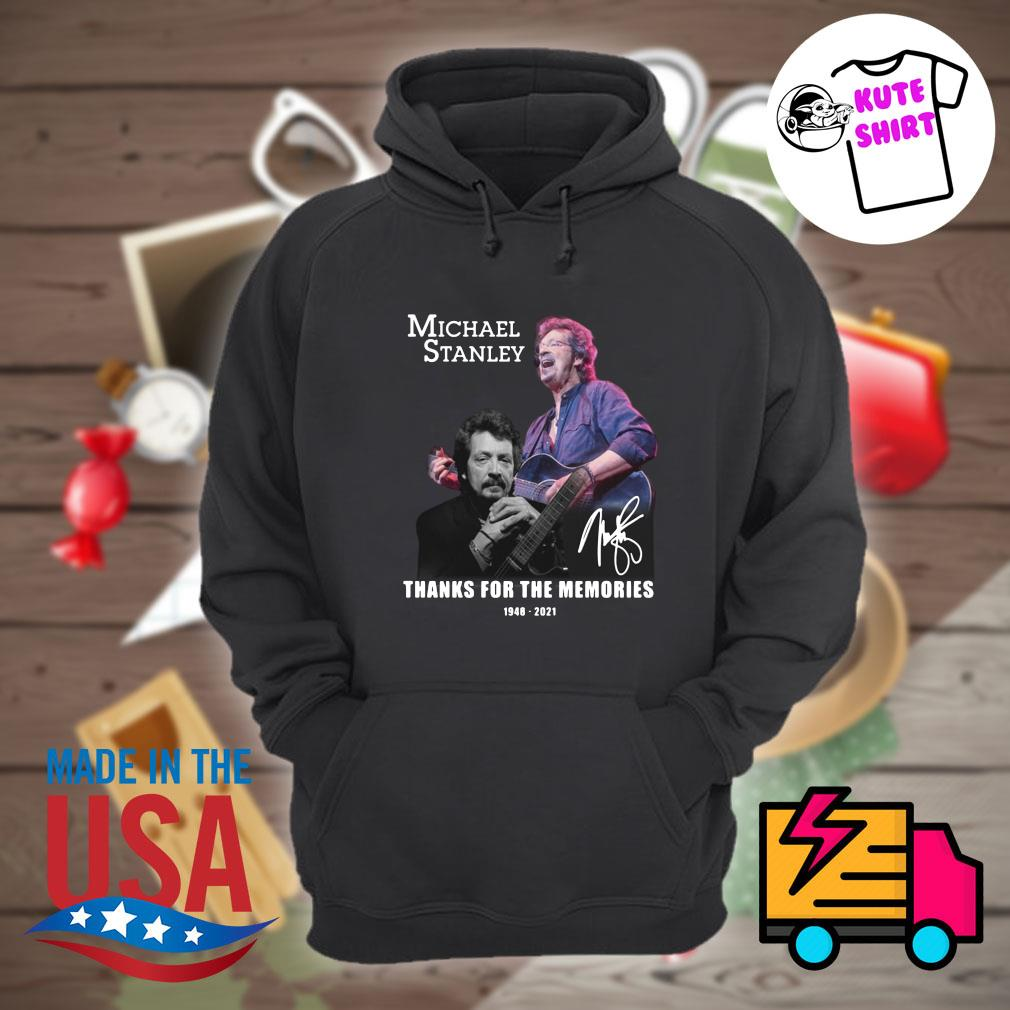 Michael Stanley 1948 2021 signature thanks for the memories s Hoodie