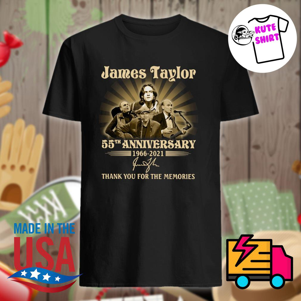 James Taylor 55th anniversary 1966 2021 signature thank you for the memories shirt