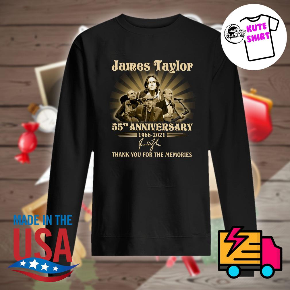 James Taylor 55th anniversary 1966 2021 signature thank you for the memories s Sweater