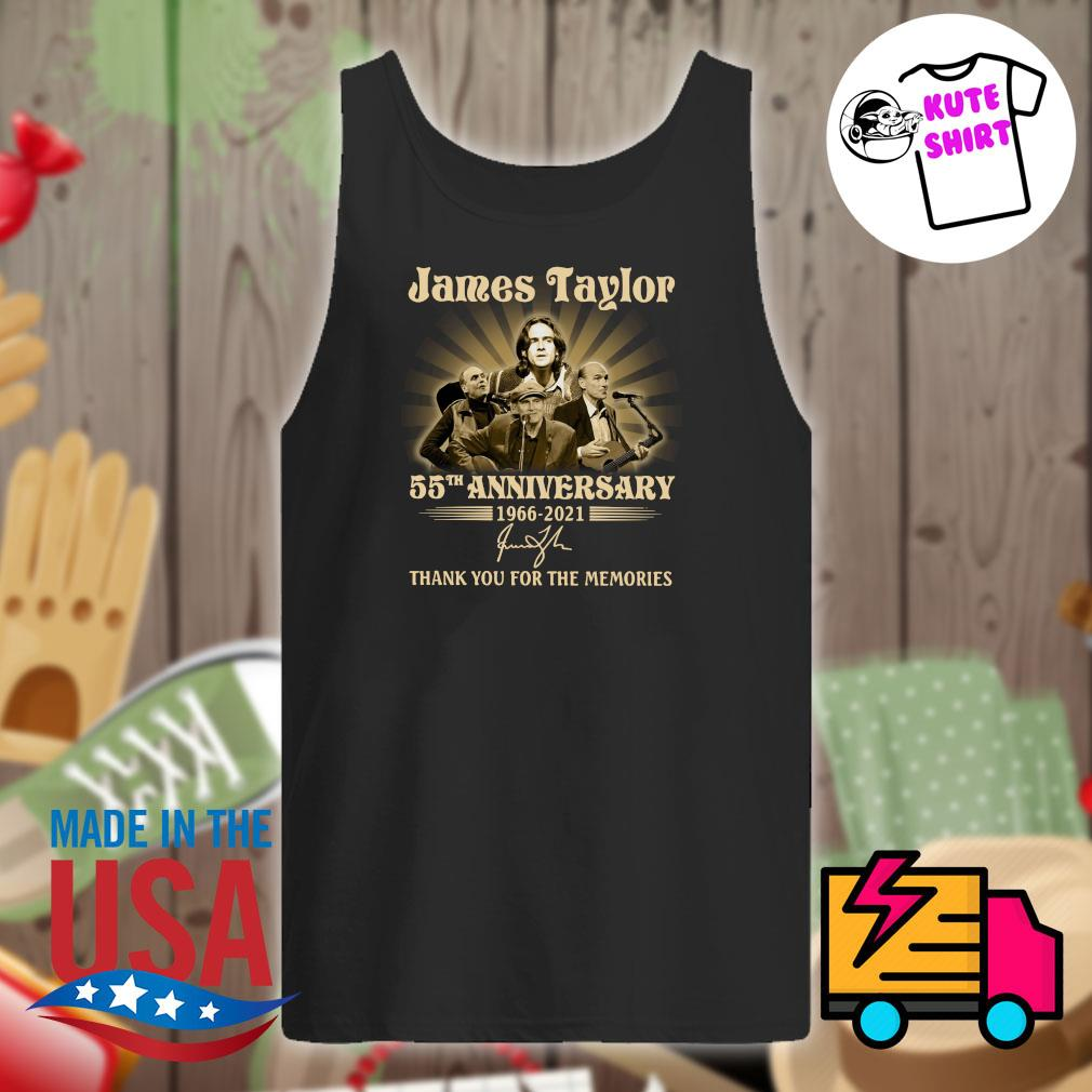 James Taylor 55th anniversary 1966 2021 signature thank you for the memories s Tank-top