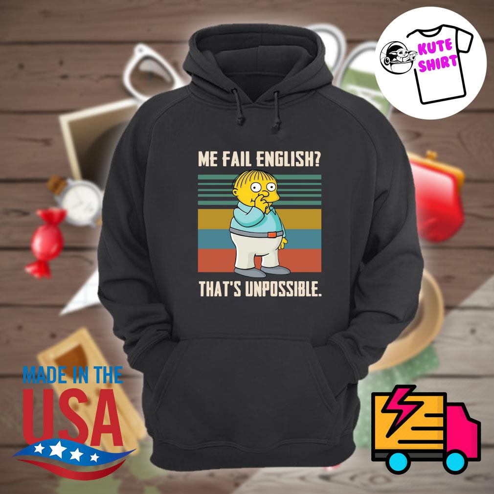 Me fail english that's unpossible vintage s Hoodie
