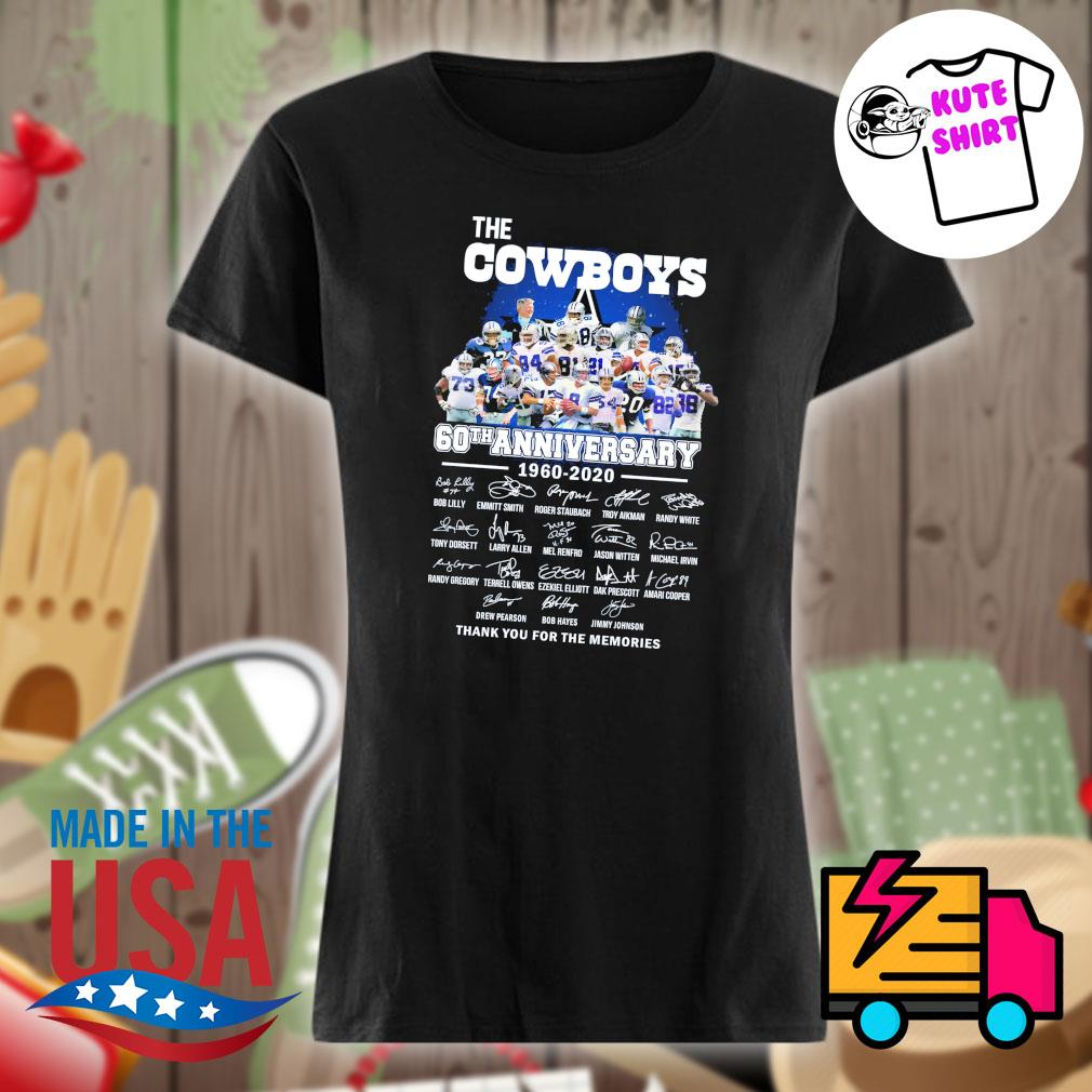 The cowboys 60th anniversary 1960-2020 signature s Ladies t-shirt
