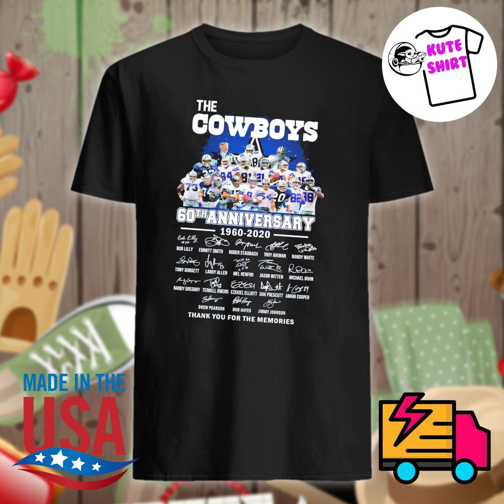 The cowboys 60th anniversary 1960-2020 signature shirt