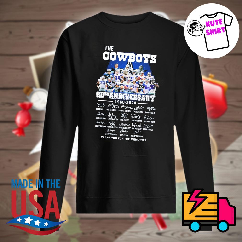 The cowboys 60th anniversary 1960-2020 signature s Sweater