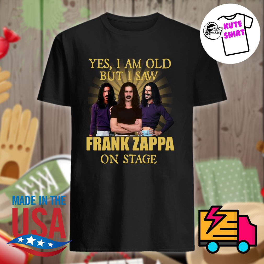 Yes I am old but I saw Frank Zappa on stage shirt