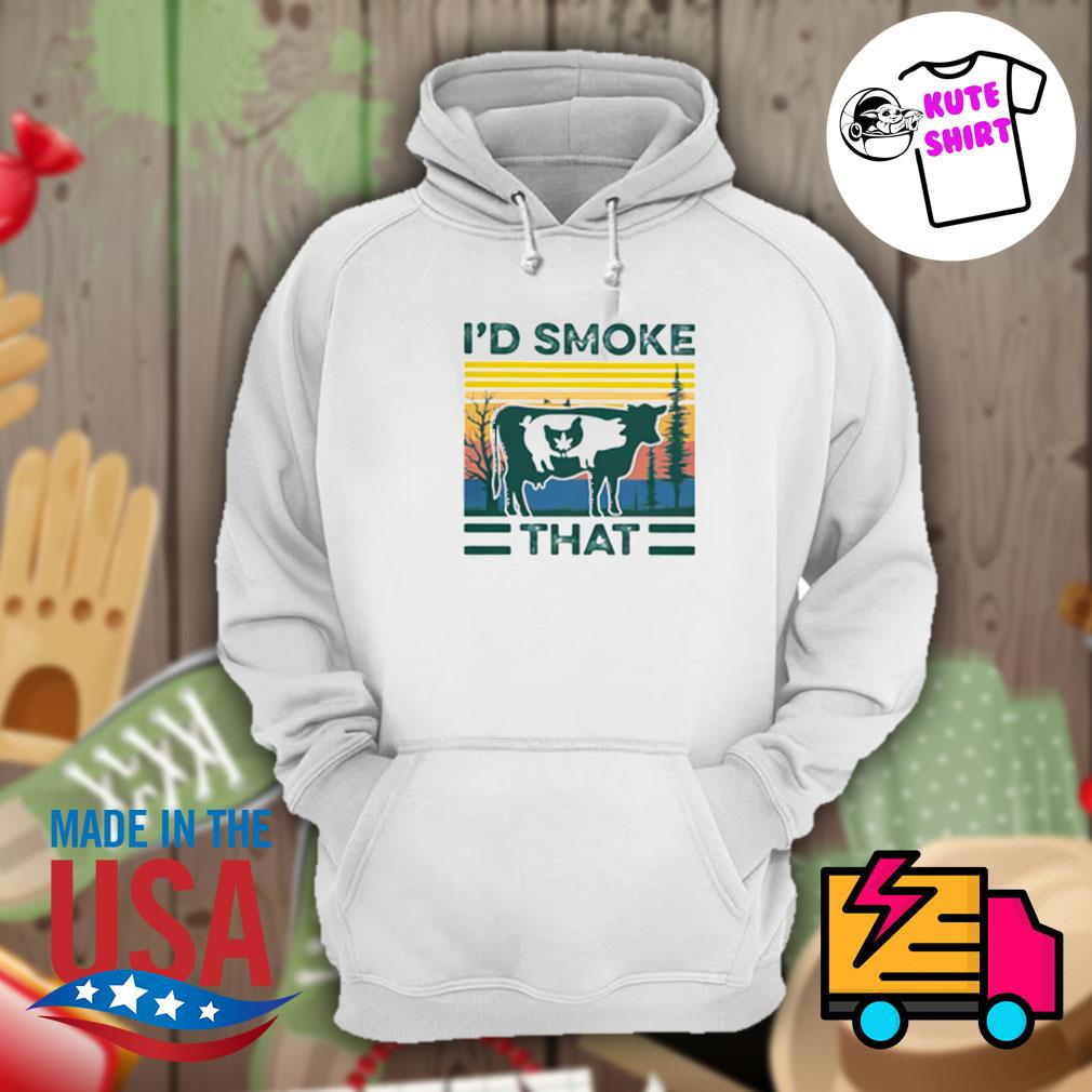 Cow pig chicken I'd smoke that vintage s Hoodie