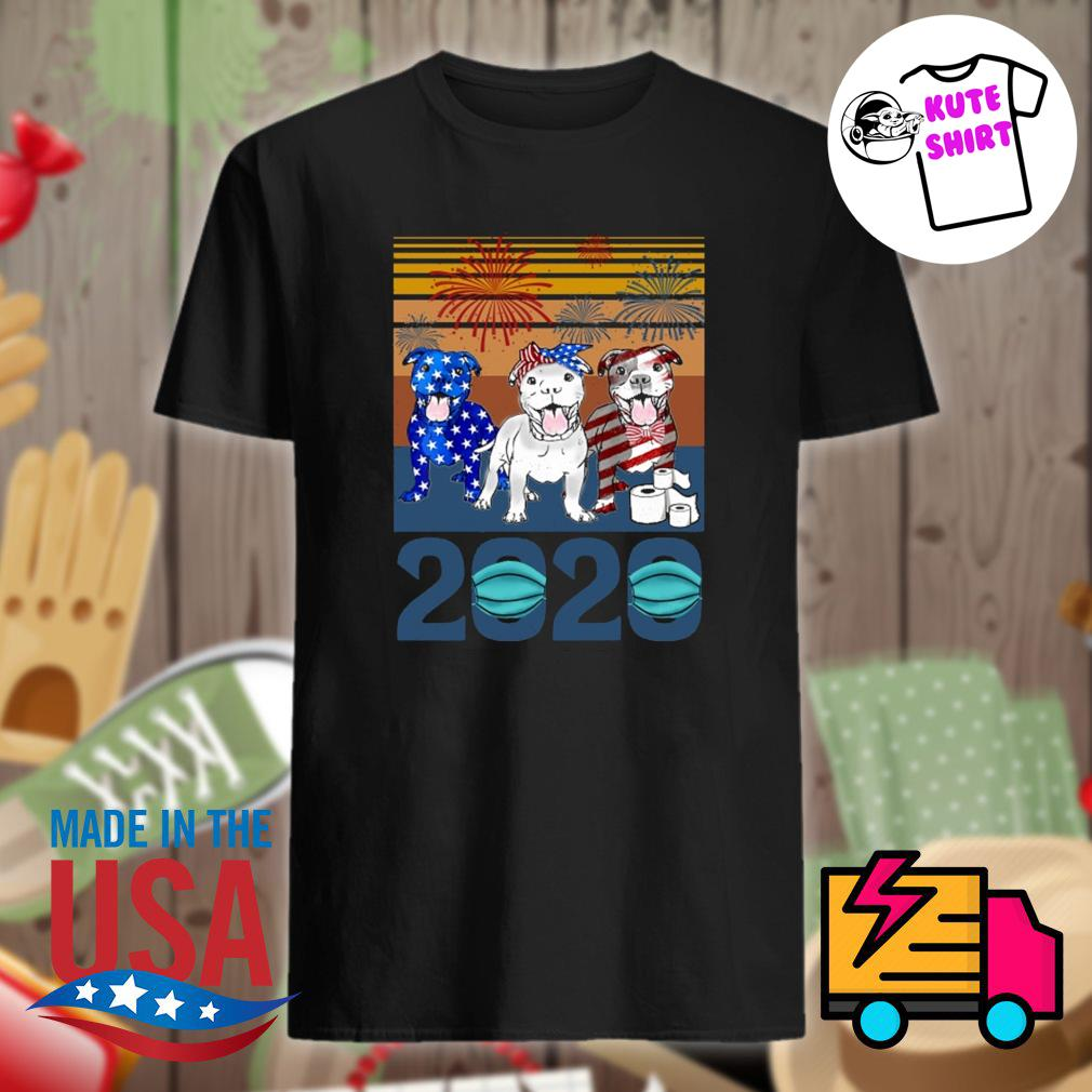 Pitbull 2020 vintage American Independence Day shirt