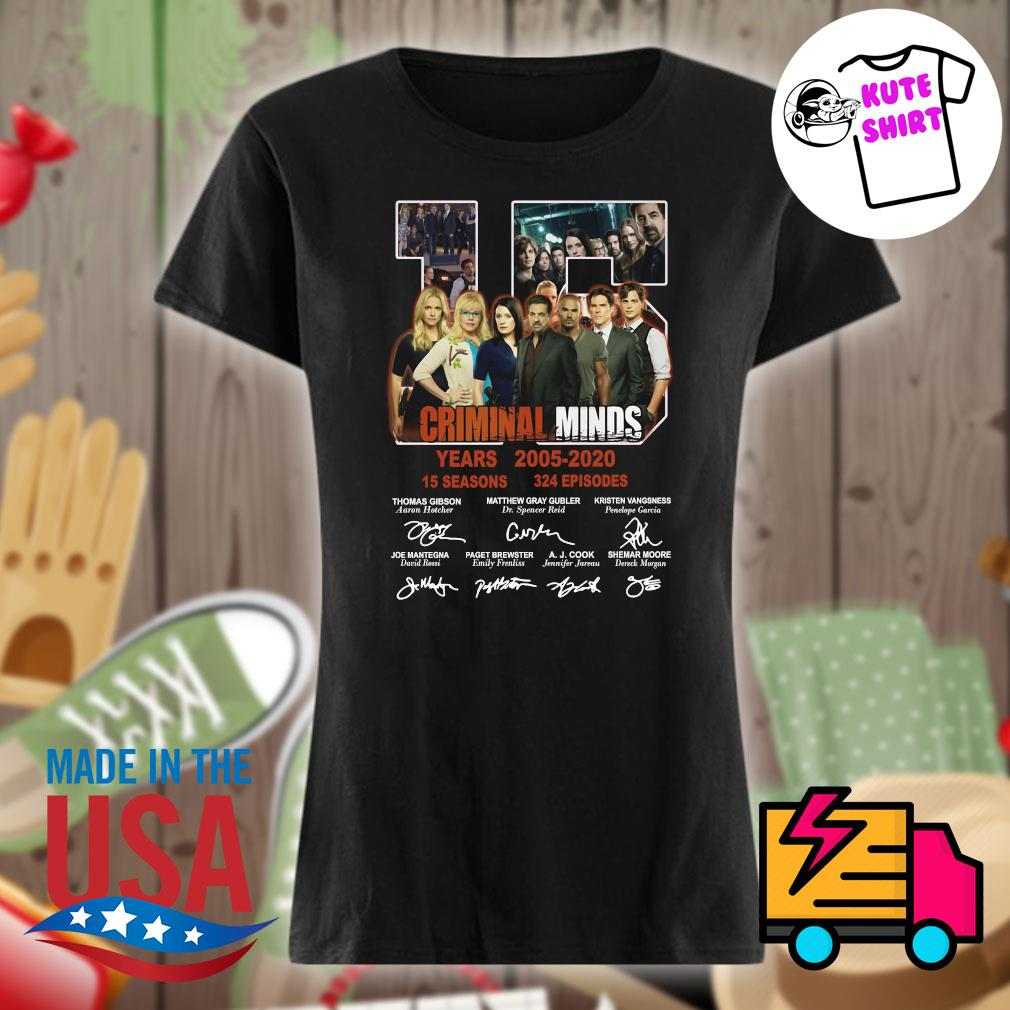 15 years of Criminal Minds 2005 2020 thank you for the memories s Ladies t-shirt