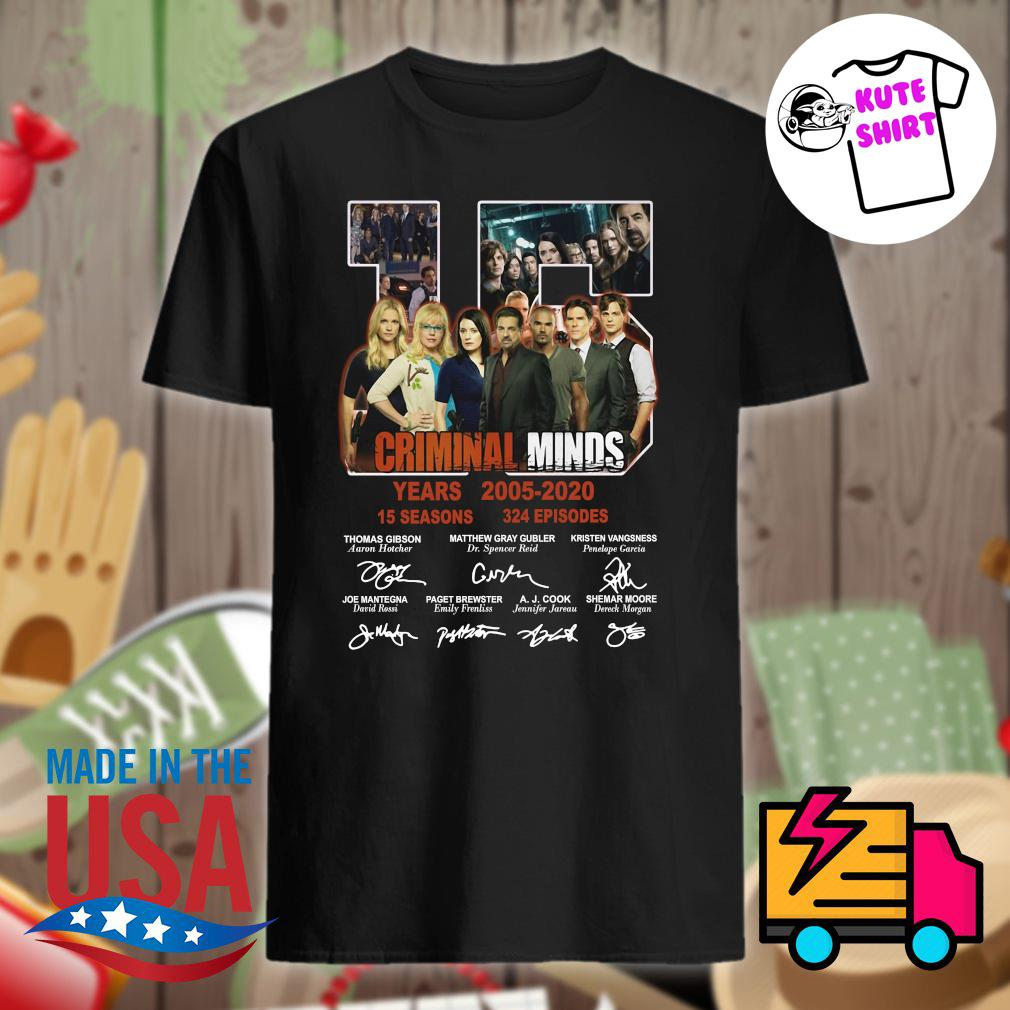 15 years of Criminal Minds 2005 2020 thank you for the memories shirt