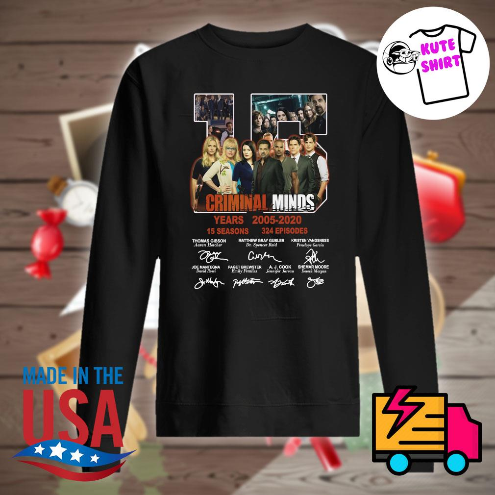15 years of Criminal Minds 2005 2020 thank you for the memories s Sweater