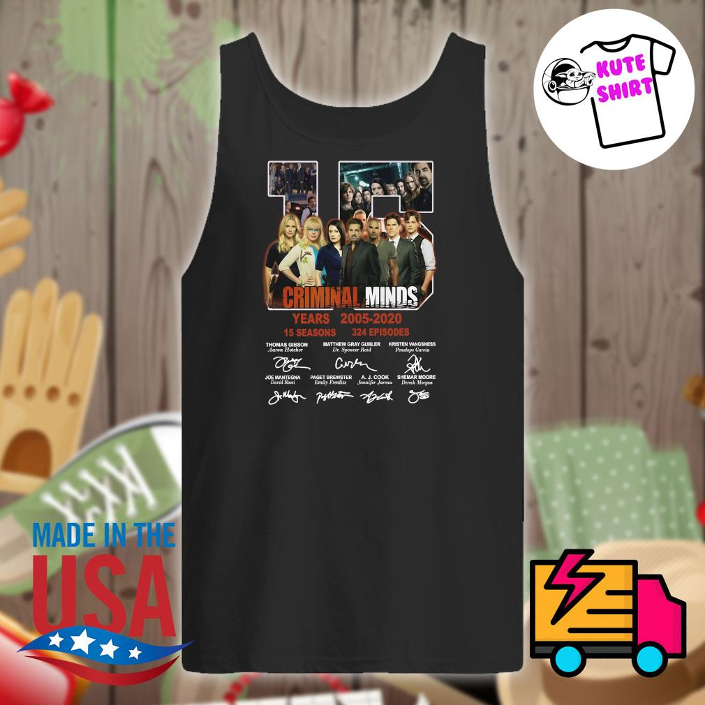 15 years of Criminal Minds 2005 2020 thank you for the memories s Tank-top