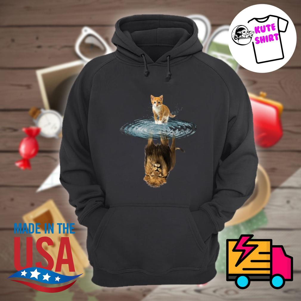 Baby Cat water reflection Lion s Hoodie