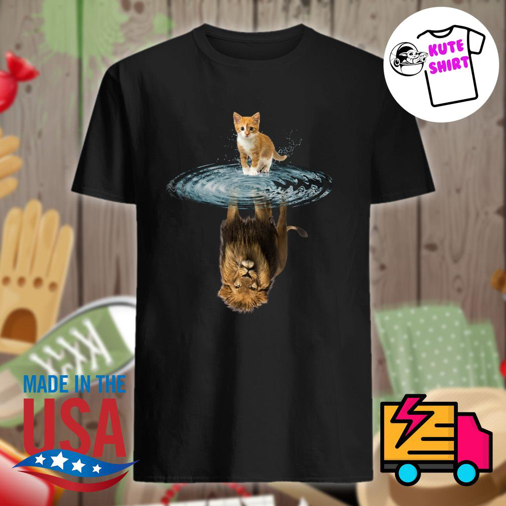 Baby Cat water reflection Lion shirt