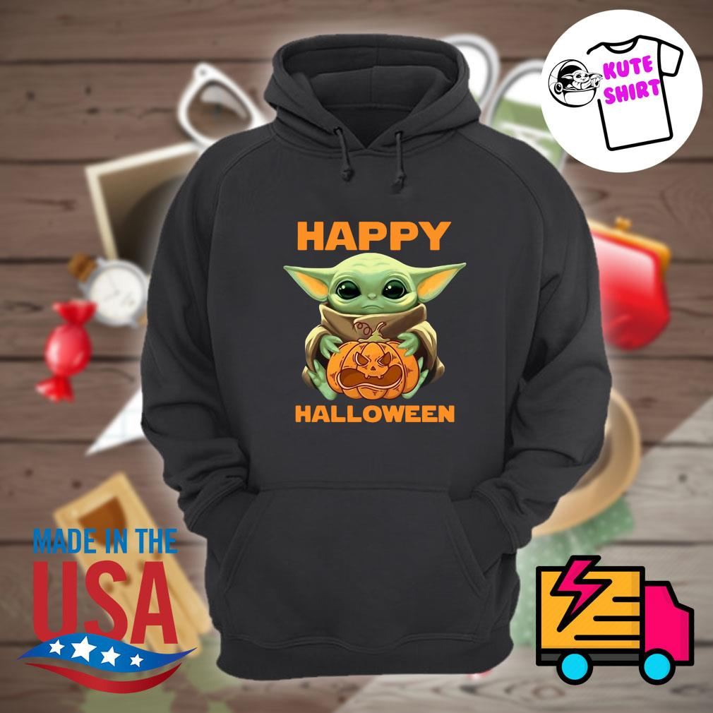 Baby Yoda hug pumpkin Halloween s Hoodie