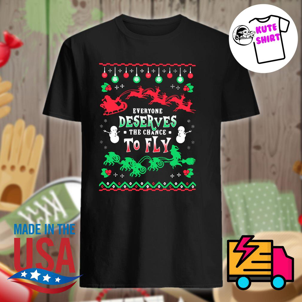 Everyone deserves the chance to fly ugly Christmas sweater