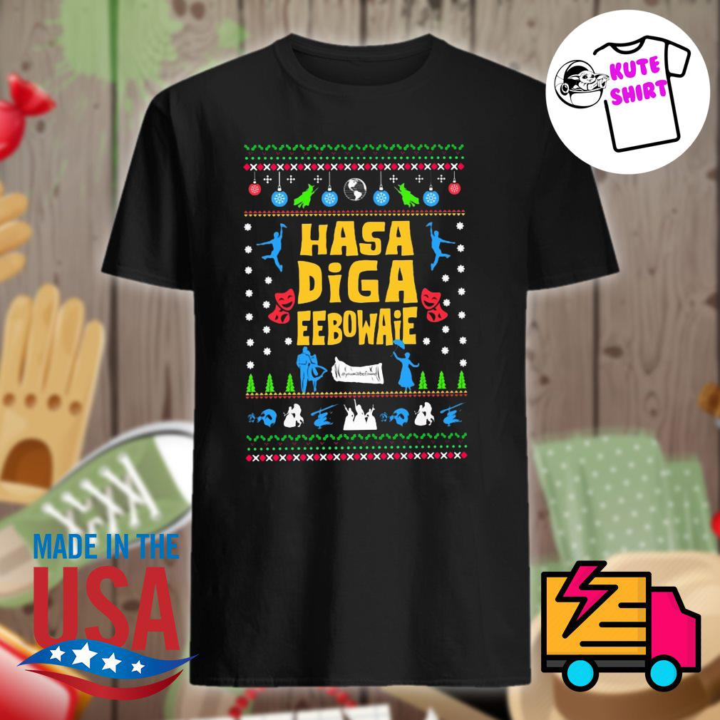 Hasa Diga Eebowai Broadway ugly Christmas sweater