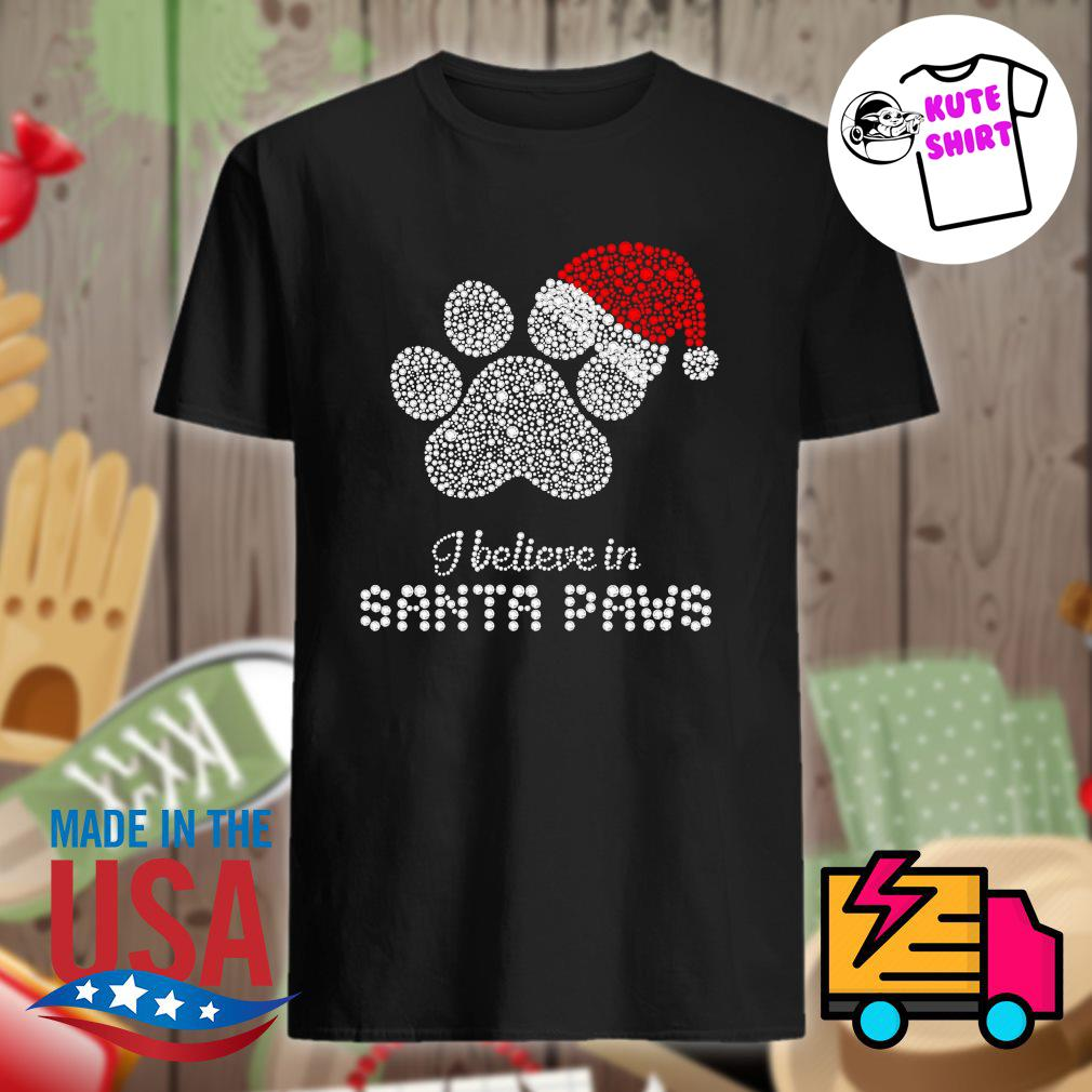 I believe in Santa Paws Merry Christmas shirt