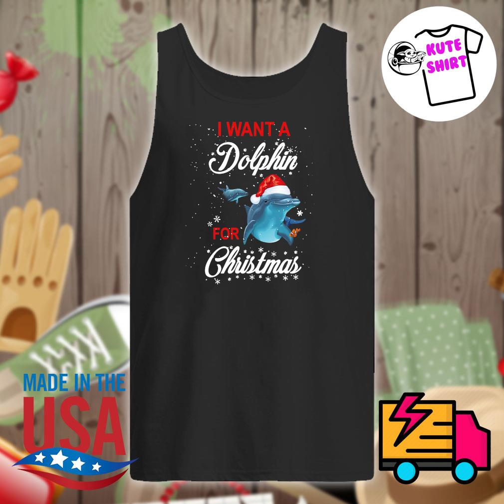 I want a Dolphin for Christmas s Tank-top