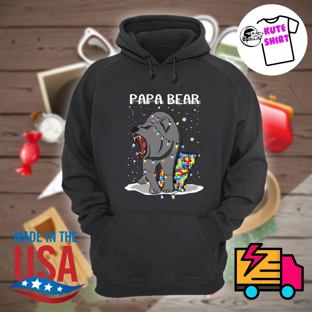Papa bear autism Christmas s Hoodie