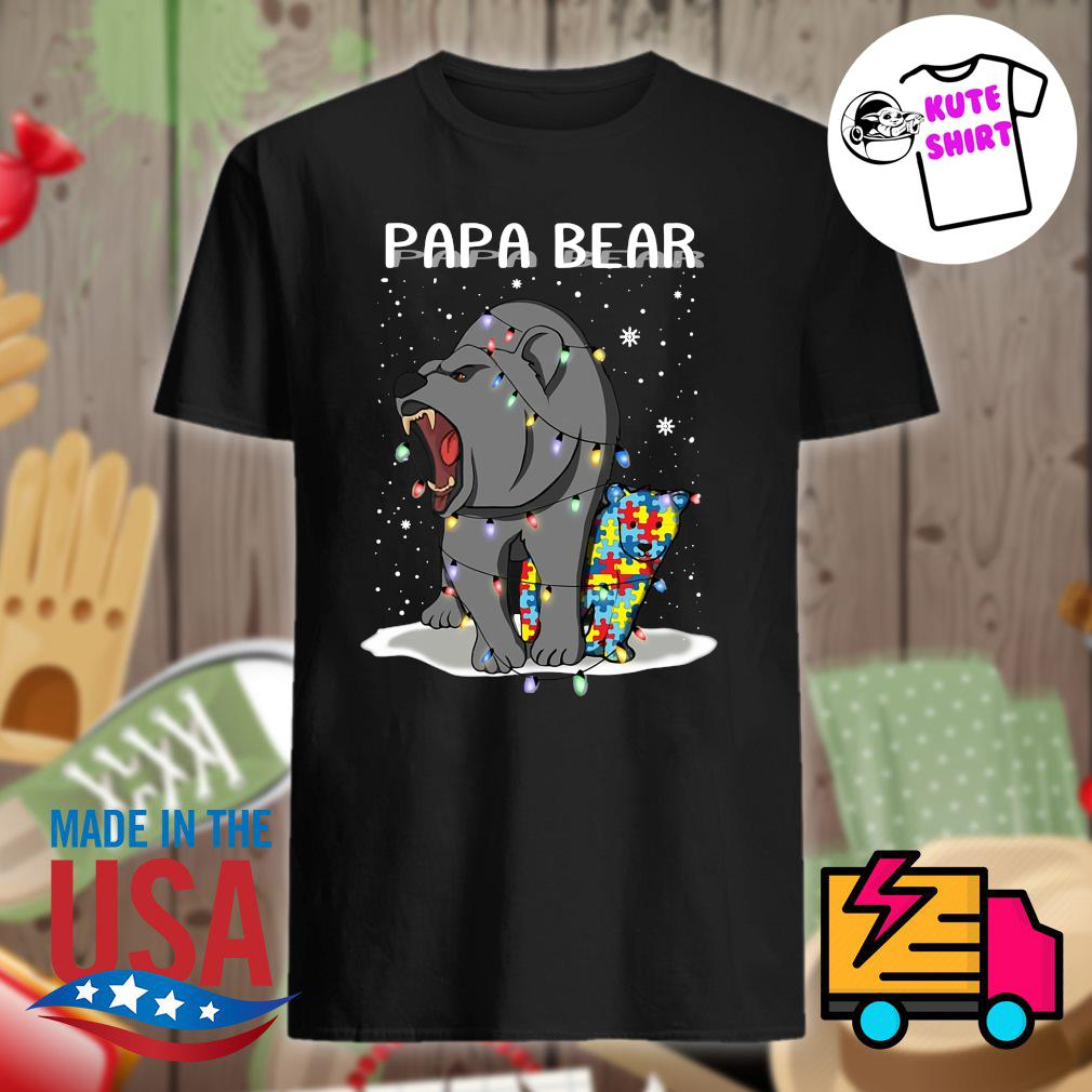 Papa bear autism Christmas shirt