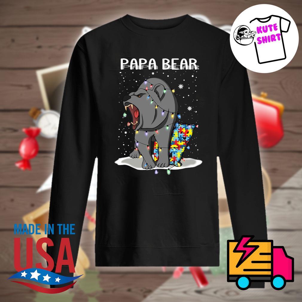 Papa bear autism Christmas s Sweater