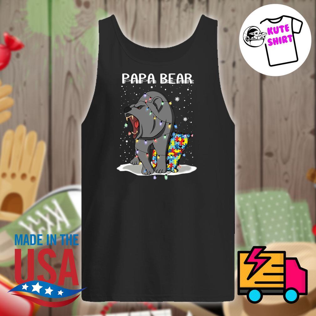 Papa bear autism Christmas s Tank-top