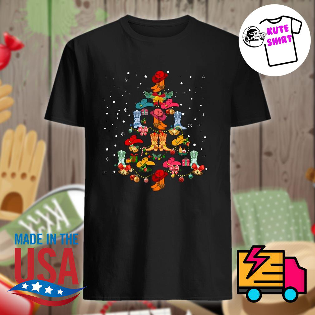 Shoes Line Dance Christmas tree shirt