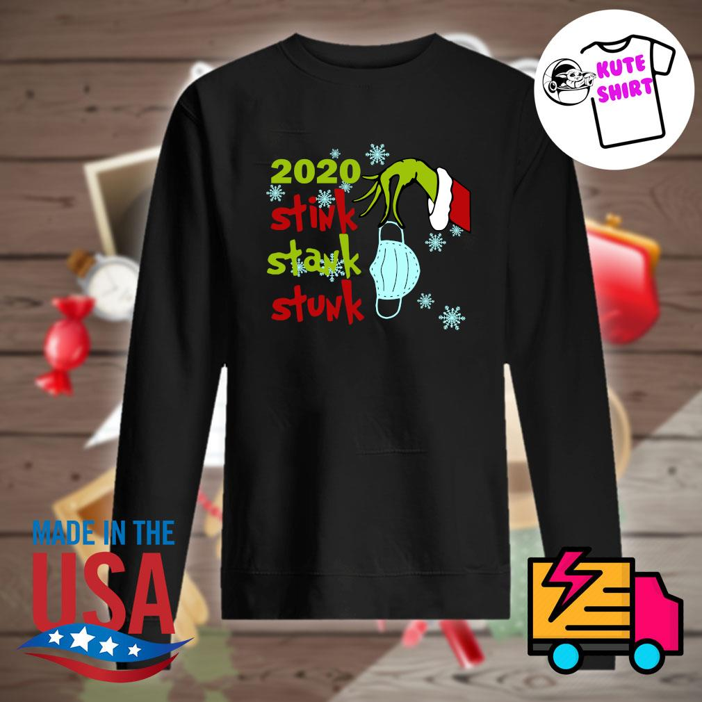 Grinch hand face mask 2020 stink stank stunk Christmas s Sweater