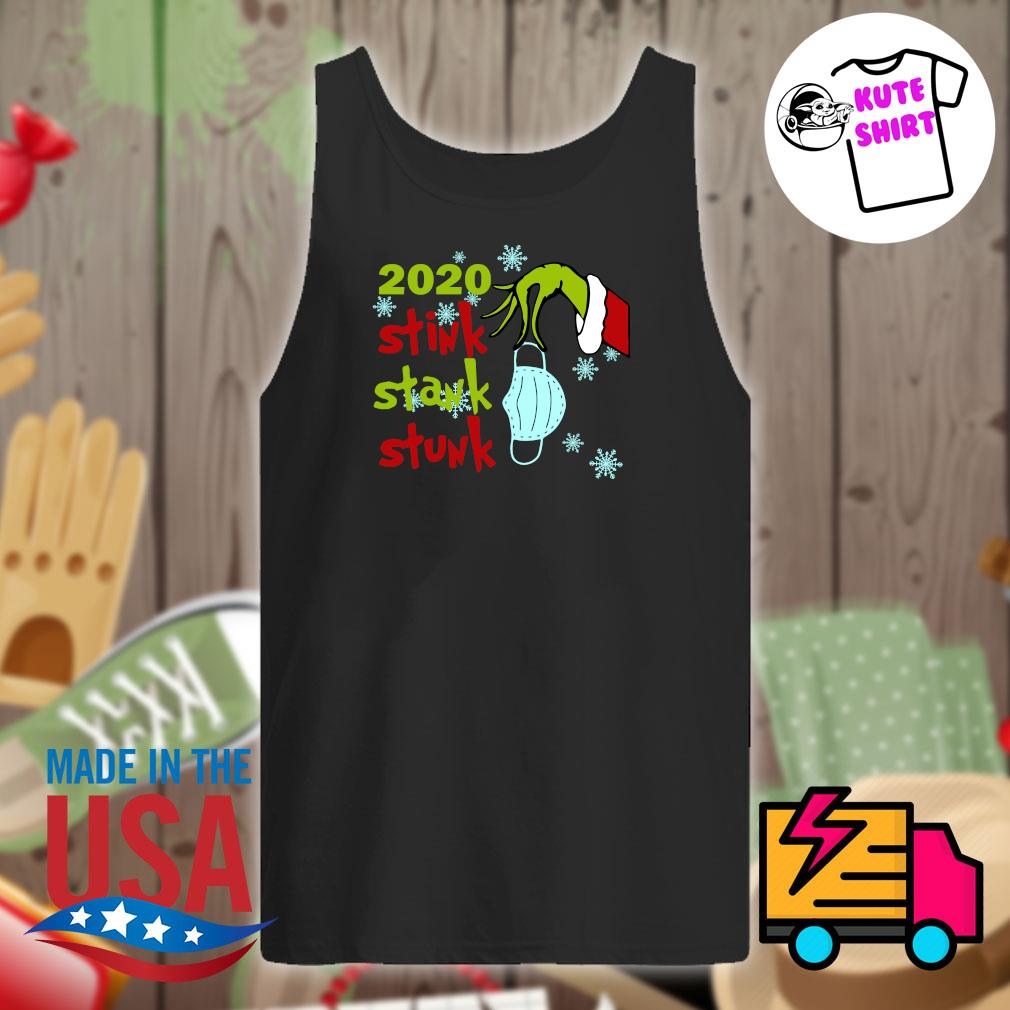 Grinch hand face mask 2020 stink stank stunk Christmas s Tank-top