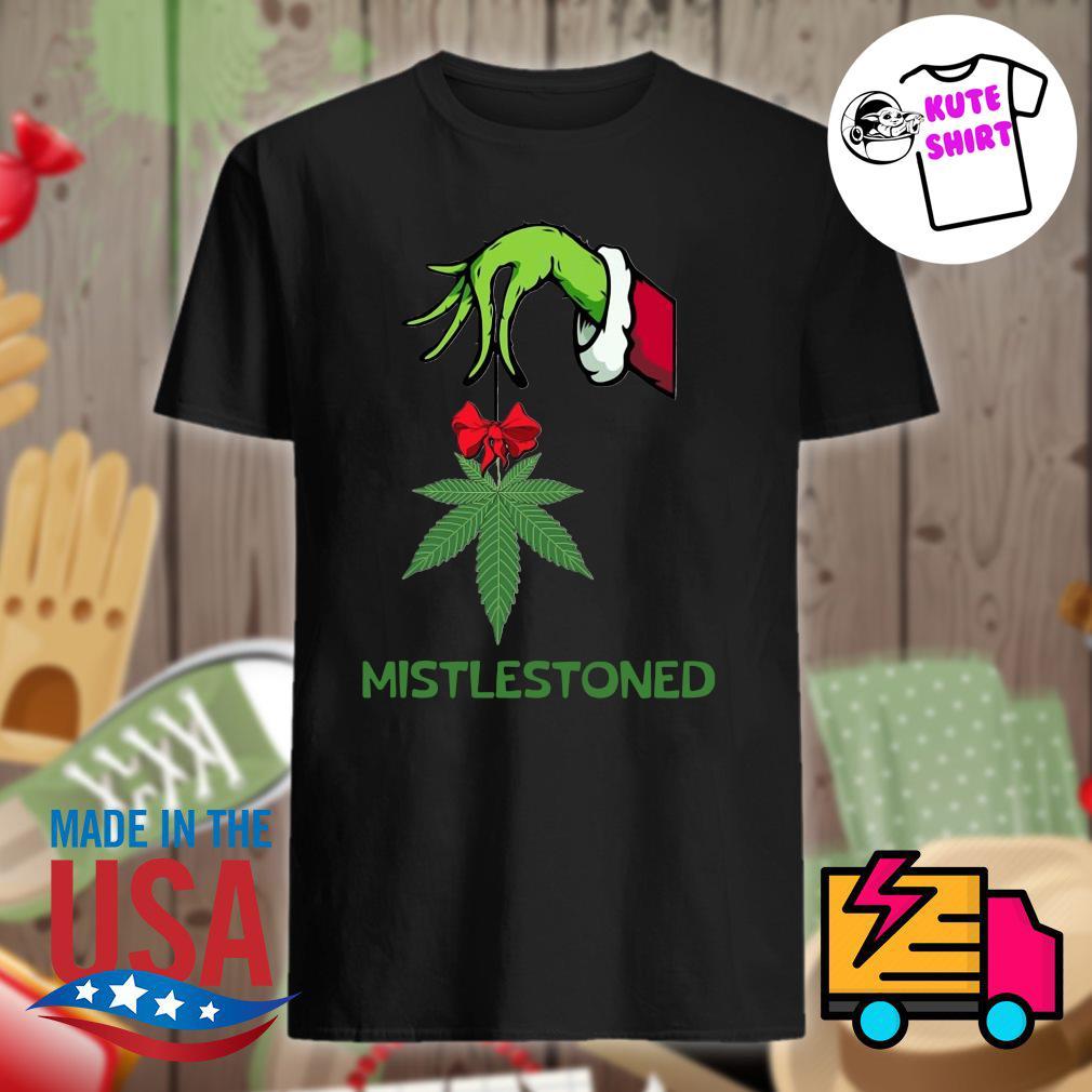Grinch hand mistlestoned Christmas shirt