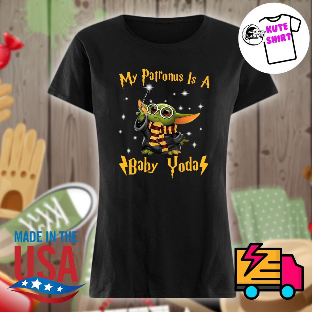 My patronus is a Baby Yoda s Ladies t-shirt