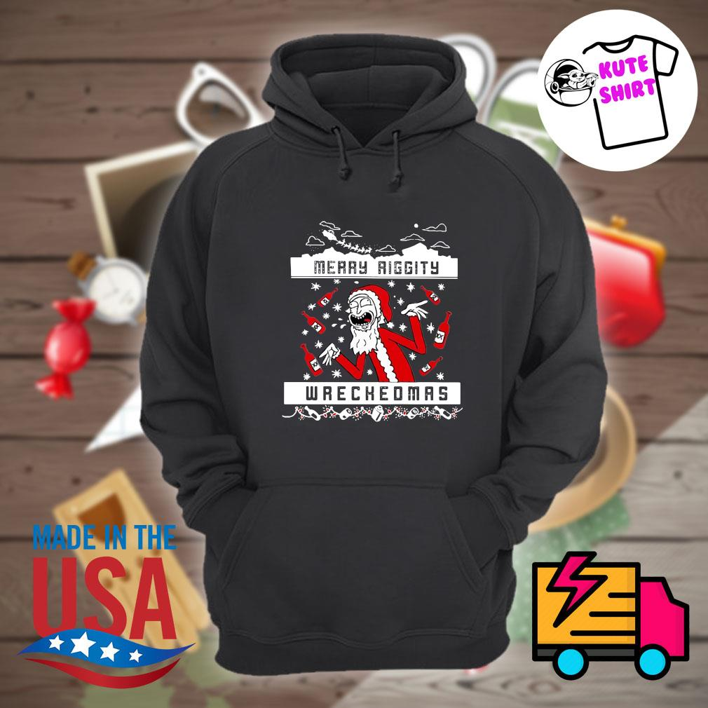 Rick and Morty Merry Riggity wrechedmas s Hoodie