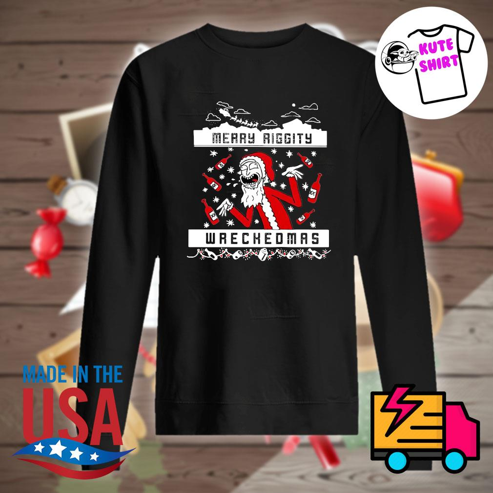 Rick and Morty Merry Riggity wrechedmas s Sweater