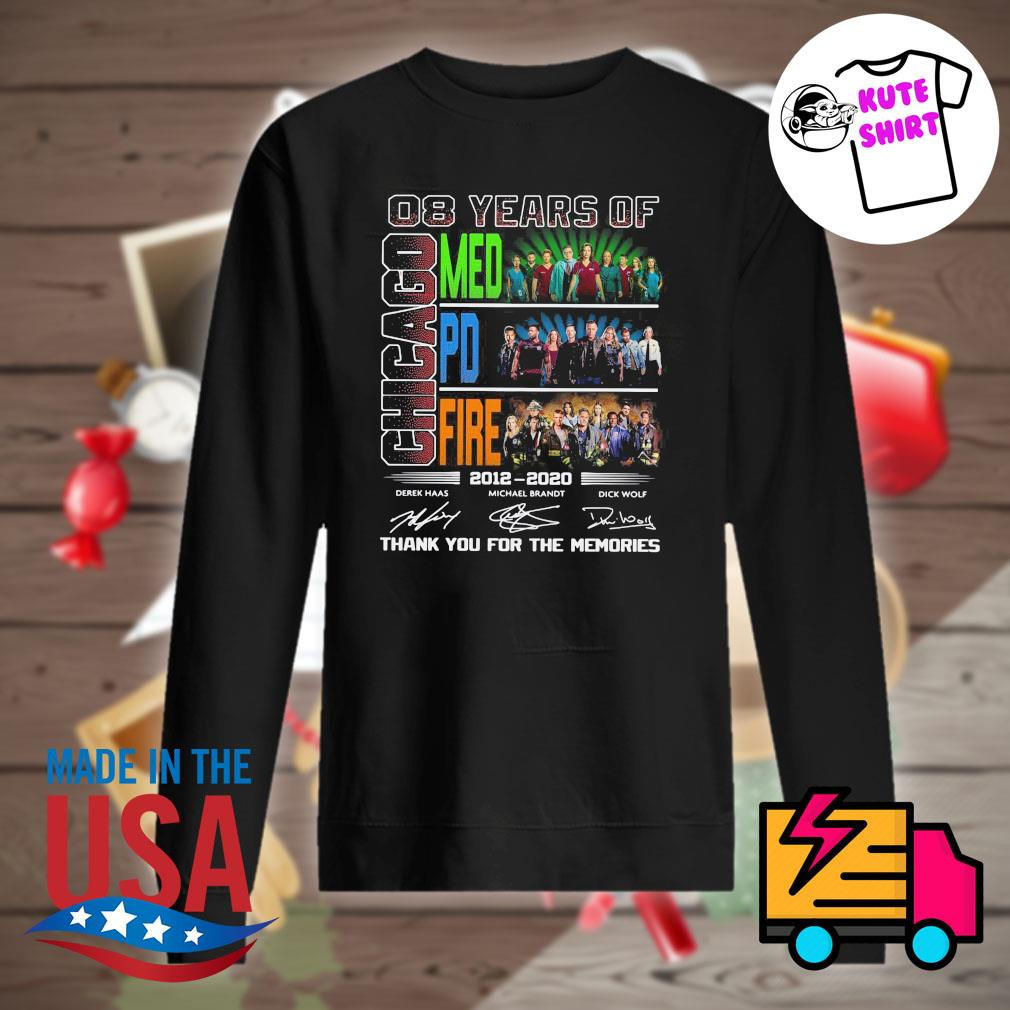 08 years of Chicago Med PD Fire 2012 2020 signatures thank you for the memories s Sweater