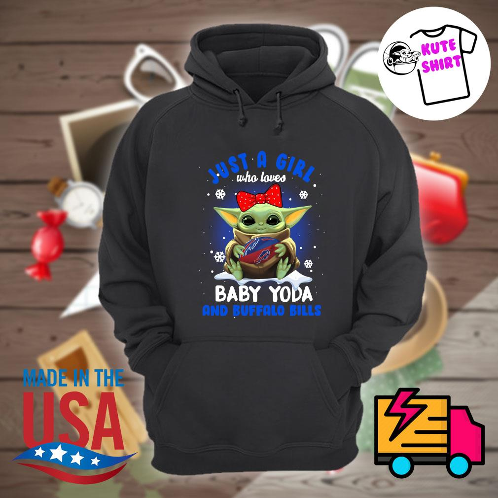 Just a girl who loves Baby Yoda and Buffalo Bills s Hoodie