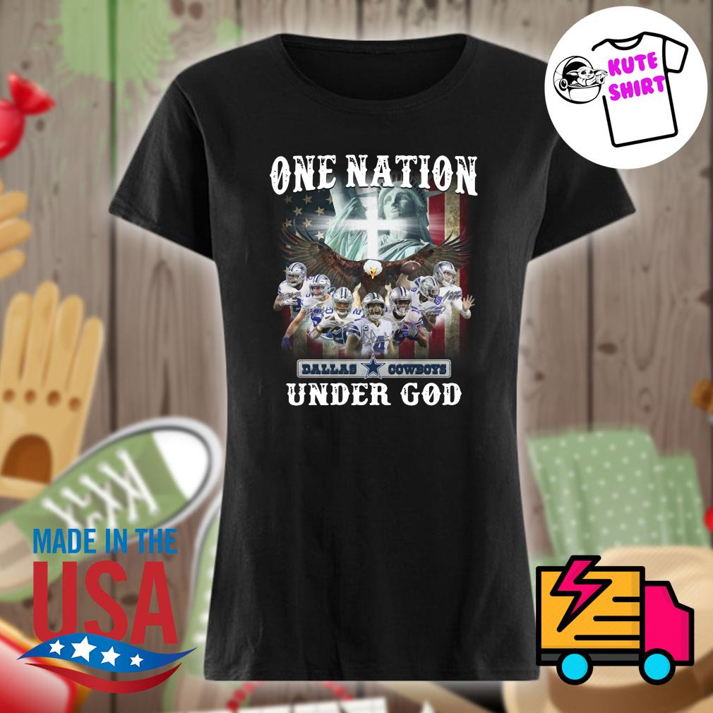 Official Dallas Cowboys one Nation under God s Ladies t-shirt